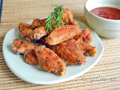 Куриные крылышки с хрустящей корочкой - рецепт с фото