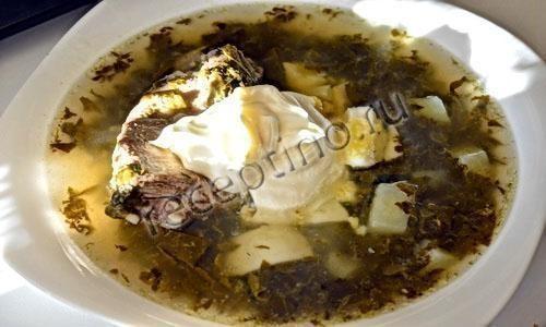 Щавельный суп из консервированного щавеля