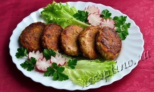 Котлеты из кабачков постные рецепт с фото пошагово