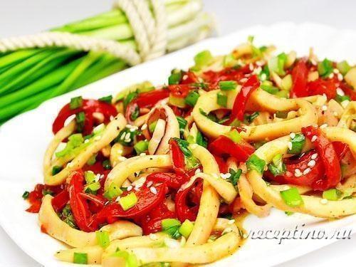Салат из кальмаров пошаговый рецепт 46