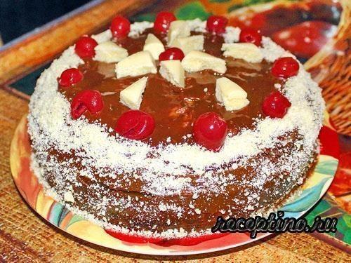 Торт пьяная вишня со сливками пошаговый рецепт 79