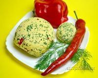 Домашний сыр с укропом и болгарским перцем