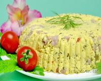 Домашний сыр с ветчиной и пряностями