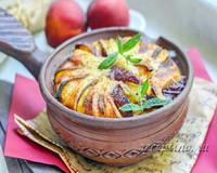 Творожная запеканка с персиком